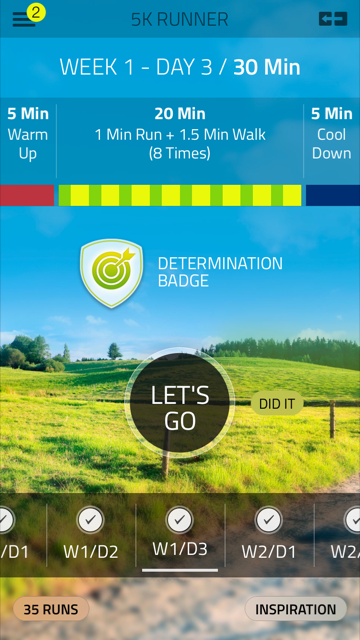 From couch to 5k; there's an app for that