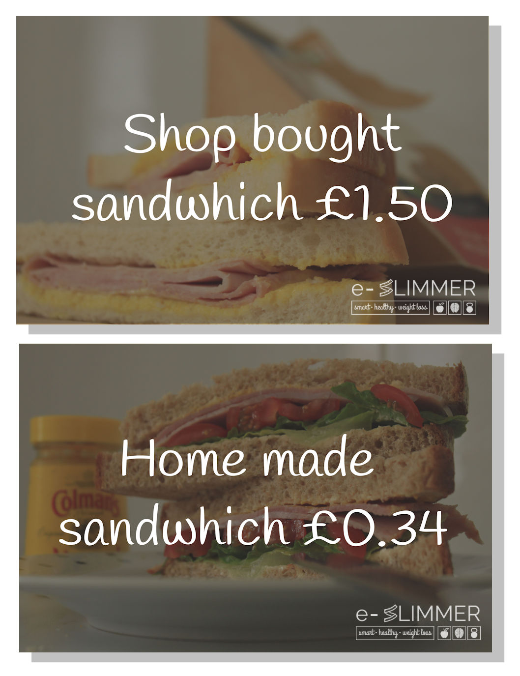 Home made sandwiches are more appetising, better for you and they cost less than the shop bought versions.
