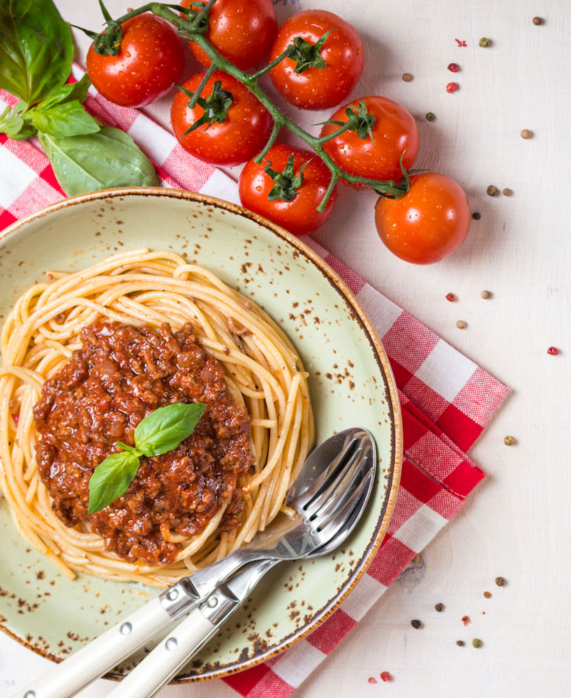 Bolognese sauce is easy to make and can be used for lots of different meals...not just spaghetti