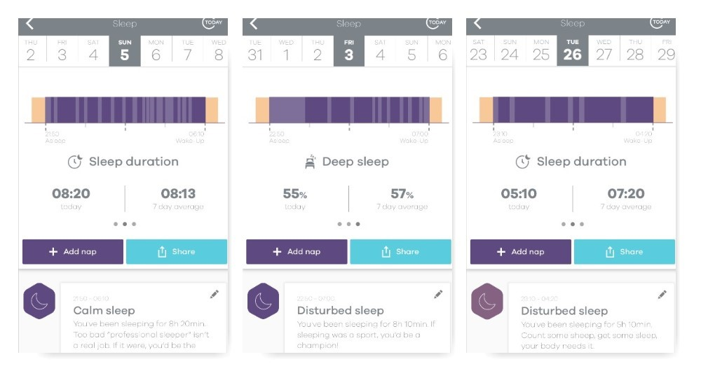 Activity tracker - The LEAF also monitors your sleep