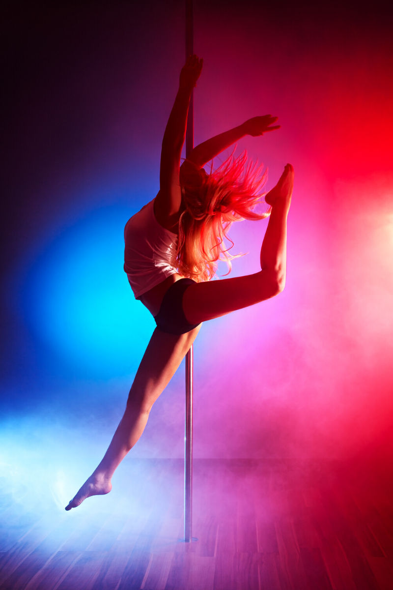 Pole dancing workout...go on give it a go.
