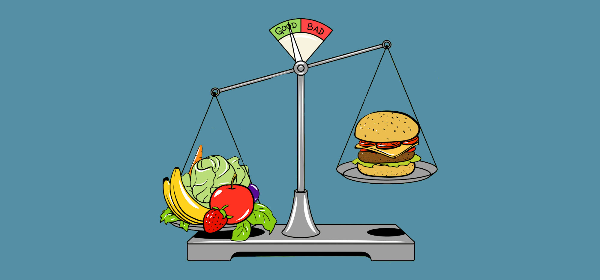 what is healthy eating - all about balance